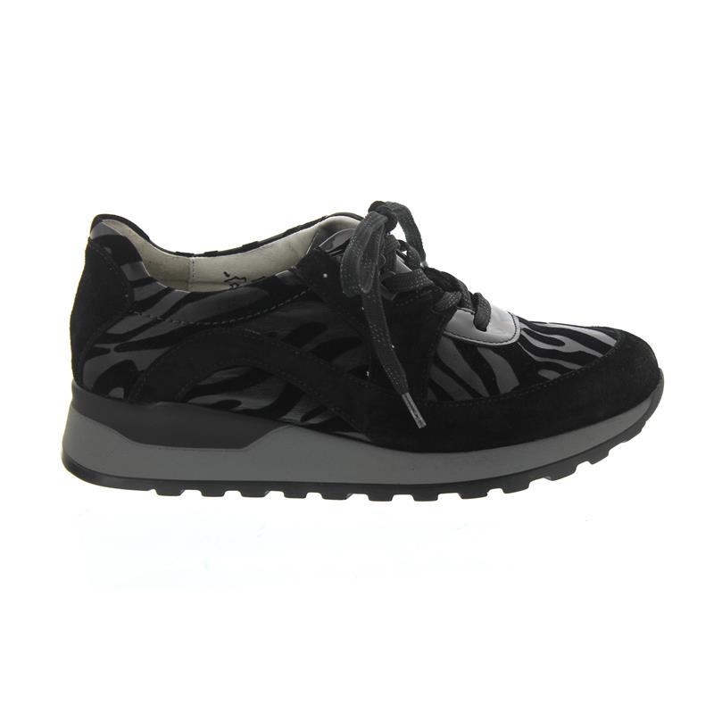 Waldläufer Hiroko, Sneaker, Velour/Zebrast./Lack, Velour/Zebrast./Lack, Sneaker, schwarz 364008-412-001 cf4f62