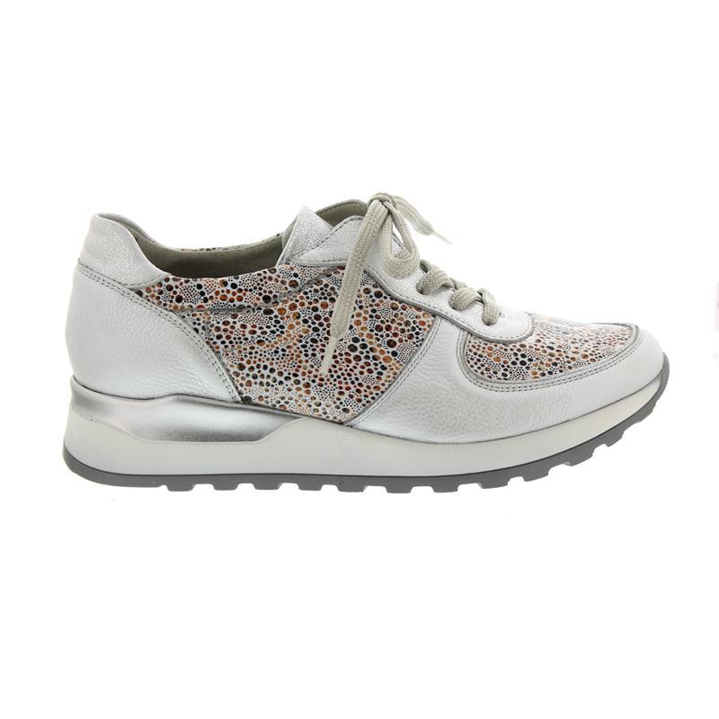 Foresta alfiere Hiroko-Soft, Sneaker, Pelle liscia/Stretch liscia/Stretch Pelle kombi., Argento/Offwhite, W c3eb6e