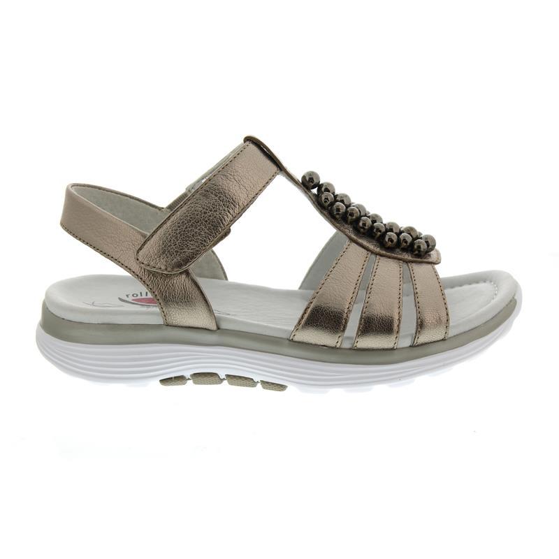 Gabor Rollingsoft Sandale, Idra Klettverschluss metallic, mutaro (Perlen), Klettverschluss Idra 86.91 8f3777
