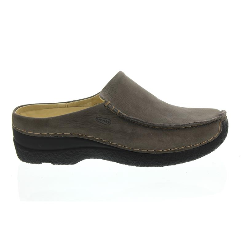 Wolky Seamy-Slide, nubuck, Clog, Antique nubuck, Seamy-Slide, Dark grey 0625011-205 5241fc