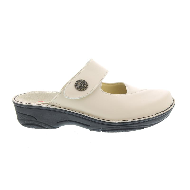 Berkemann Heliane, Beige, Leather Stretch, Clog 3457-725