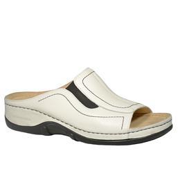 Berkemann Isabella, Pantolette, Metallic Leder weiß, 01105-101