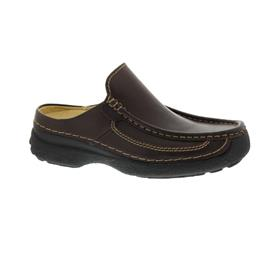 Wolky Roll-Slide Clog, Glattleder, Brown 0921050-300