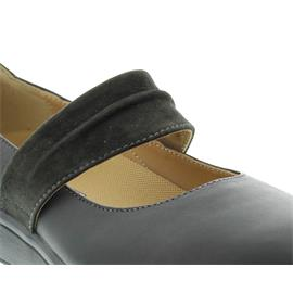 Joya Delia, Slipper, Full Grain Leather/ Velour caviar, 560cas