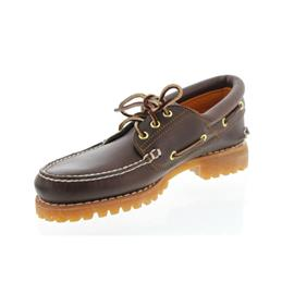 Timberland Authentic 3 - Eye Handsewn Boat Shoe, Md Brown, Full-Grain 30003