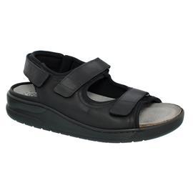 Mephisto V843 Valden, Wechselfußbett, Klettverschluß, schwarz