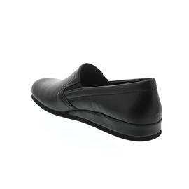 Rohde Herren Hausschuh, Softnappa, schwarz, Weite G 6402-90