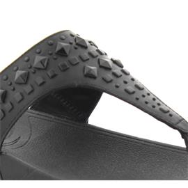 FitFlop Zehensteg-Pantolette Biker Chic, All Black