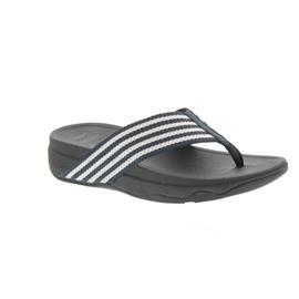 FitFlop Zehensteg - Pantolette Surfa, Supernavy / White