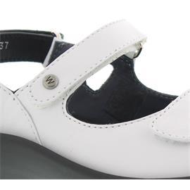 Wolky Rio, White, Velvet leather, Sandale 3325-210