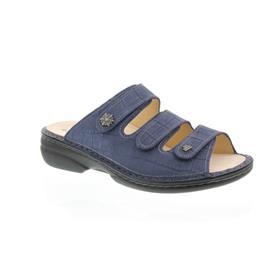 Finn Comfort Menorca-S, Oldbrass (Nubukleder), Blue, Pantolette 82564-477241