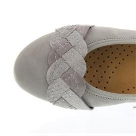Gabor Ballerina, Samt/Silk Na./Cobra, grau/grigio/torba 44.166.19