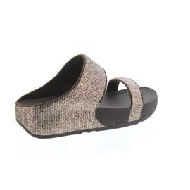 FitFlop Pantolette Lulu, Superglitz, Slide, Bronze