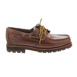 Sebago Vershire Three Eye, Brown Oiled Waxy Leather 710-064
