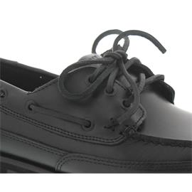 Sebago Vershire Three Eye, Black Oiled Waxy Leather 710-063