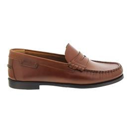 Sebago Plaza II, Penny-Loafer, Brown Oiled Waxy Leather B616101