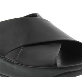 FitFlop Kys Slide, Pantolette, All Black, Glattleder E29-090