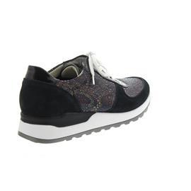 Waldläufer Hiroko-Soft, Sneaker, Velour/Lack/Stretch, blau, Weite H H64001-408-021