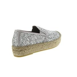 Vidorreta Espadrilles, Cangrejo, Glitter Mate / Plata 06300