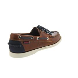 Sebago Spinnaker Cognac Leather / Navy Nubuck B720128 Men