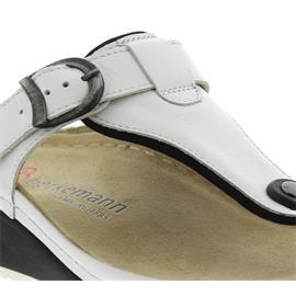 Berkemann Mila, weiß, Glattleder, Zehenstegpantolette 1351-100