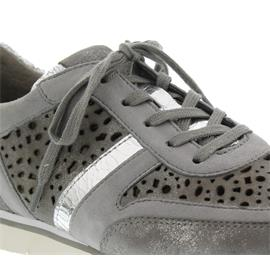 Gabor Sneaker, Caruso/Samt/Crack, grau/stone/argento 64.324.69 Best Fitting