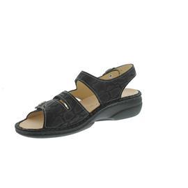 Finn Comfort Gomera, Sandale, Wipeg (Nubukled. bedruckt), schwarz, 2562-554099