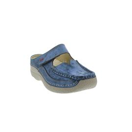 Wolky Roll-Slipper, Blue summer, Amalia nubuck 6227-187