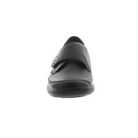 Waldläufer Millu-S, Ortho-Tritt, Glattleder / Stretch, schwarz, Weite M, Klettverschluss M54306-301-