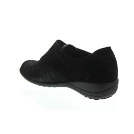 Waldläufer Katja-Soft, Ortho-Tritt, Nubukleder / Stretch, schwarz, Weite K, Klettverschluss K01304-3