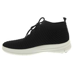 FitFlop Uberknit Slip-On High Top Sneaker in Wafle Knit Black