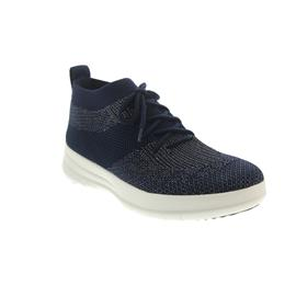 FitFlop Uberknit Slip-On High Top Sneaker Midnight Navy / Pewter Metallic