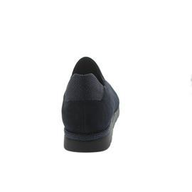 Semler Nelly, Sneaker, Samt-Chevro/Waran, midnightblue, Weite H, Vario-Fußbett N8075-872-080