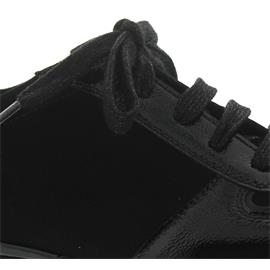 Semler Nelly, Sneaker, K-Lack/Samt-Chevro/Soft-Nappa, schwarz, Weite H, Vario-Fussbett N8215-696-001