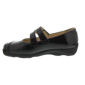 Finn Comfort Vivero, Ballerina (Klett), Knautschlack, schwarz 2353-022099