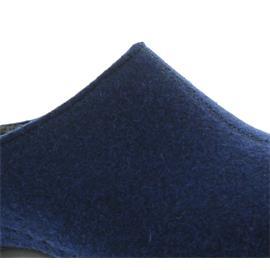 Berkemann Florina, royalblau, Filz, Hausschuhe, Weite F, Wechselfußbett 1025-312