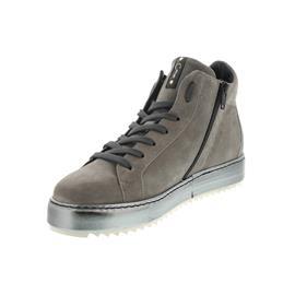 Donna Carolina Sneaker, Oregon Sasso+Gom Lago (Veloursleder grau) , Lederfutter, Reißverschluss 34.1