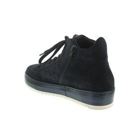 Donna Carolina Sneaker, Oregon Navy+Gom Lago (Veloursleder blau) , Lederfutter, Reißverschluss 34.16