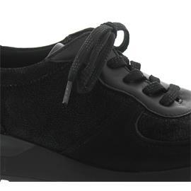Waldläufer Hiroko-Soft, Sneaker, Nubukleder / Stretch kombi., schwarz, Weite H H64001-412-771