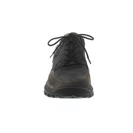 Waldläufer Hilana, Sneaker, Velourleder / Glitter kombi., asphalt / schwarz, Weite H 917002-600-577