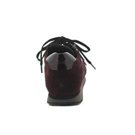 Gabor-Comfort York Sneaker, Samtchevreau / Lack, new merlot / steel, Schnürung und Reißver., Weite G
