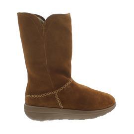 FitFlop Supercush Mukluk Boots, Warmfutter, Veloursleder, chestnut C73-047