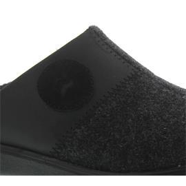 Romika Gomera H 02, Shiny Velour/Filz, schwarz, Weite H, Wechselfußbett 50402-28-100