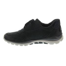 Gabor Rollingsoft, Sneaker, Nubuk Oil / Stella, ocean, Schnürung und Gummizug 76.963.46