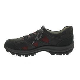 Waldläufer Holly, Outdoor-Schnürschuh, blau/grau/rot, Nubukleder, Weite H 471014-590-685