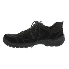 Waldläufer Hayo, Outdoor-Halbschuh, Nubukleder, schwarz / braun, Weite H 415007-691-742
