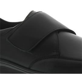 Berkemann Daniel, schwarz, Leder / Stretch, Klettverschluss, Extraweite H-J 5505-906