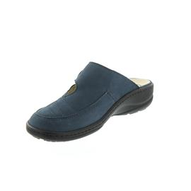 Waldläufer Heria, Clog, Denver (Nubukleder), jeans, Klettverschluss, Weite H 408701-191-206