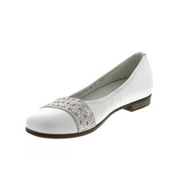 Waldläufer Hamiki, Ballerina, Memphis/Tago (Glatt-/Nubukled.) weiss / silber, Weite H 328008-308-150