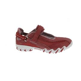 Allrounder Niro, Klettverschluss, Jeanstyle 48/Open Mesh 12, Rosso / Cool Grey N819